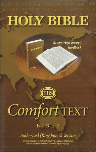 KJV Large Print Comfort Text Bible-Brown Hardcover