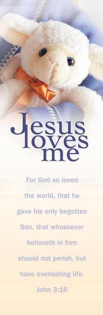 Bookmark-Jesus Loves Me (John 3:16 KJV) (Pack of 25)