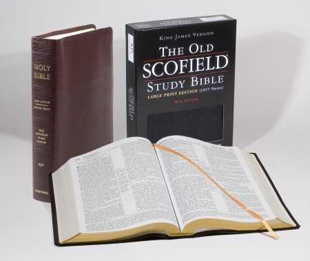 KJV Old Scofield Study Bible/Large Print-Burgundy Bond