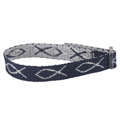 Wristbands - Navy Blue, Fish