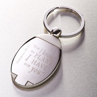 I Know the Plans - Jeremiah 29:11 Metal Keyring