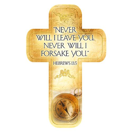 """Never will I Leave You"" Paper Cross Bookmark"