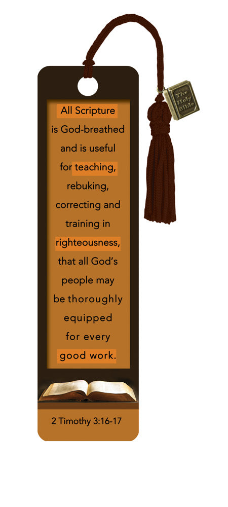 2 Timothy 3:16-17 - Bookmarks w/ Charm