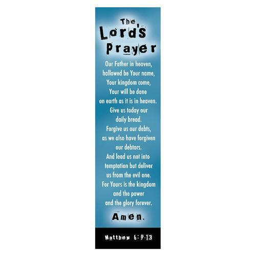 """Lord's Prayer"" (Blue) Bookmarks"