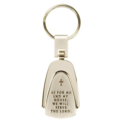 """As for Me and My House"" Engraved Keyring"