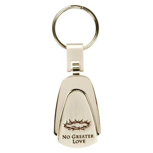 """No Greater Love"" Engraved Keyring"