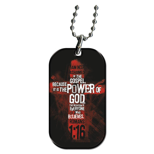 Romans 1:16 - Dog Tag