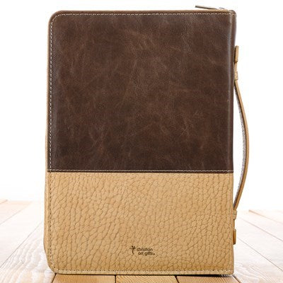 For God so loved the world in Brown and Tan John 3:16 Bible Cover