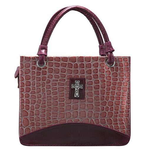 Pink Croc Embossed, Purse-style Lg