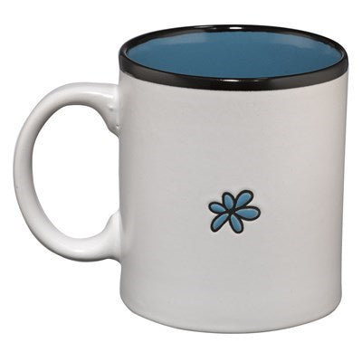 Hope on White with Blue Interior Lamentations 3:24 Coffee Mug
