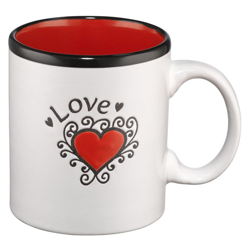 Love (Red Interior) Stoneware Mug