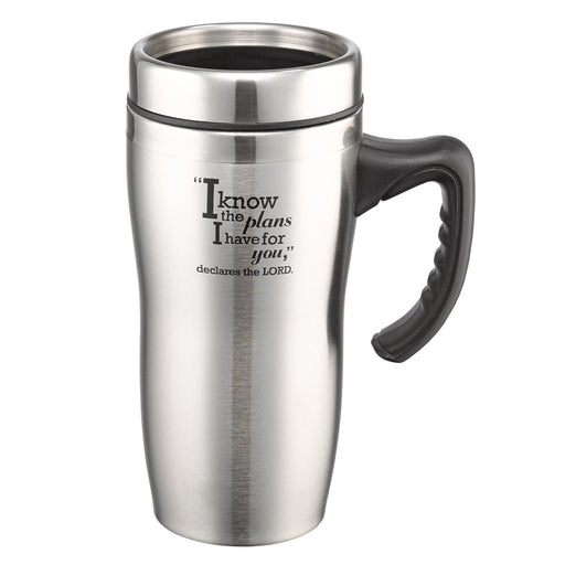 """I Know the Plans"" Stainless Steel Travel Mug"