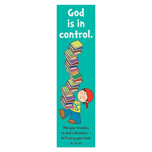 """God is in Control"" (Teal) Bookmarks"