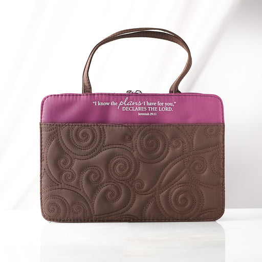 Purple/Brown Microfiber Purse Style Med