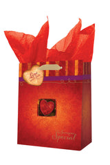 "Small Gift Bag ""Love Never Fails"" - 1 Cor 13:8"