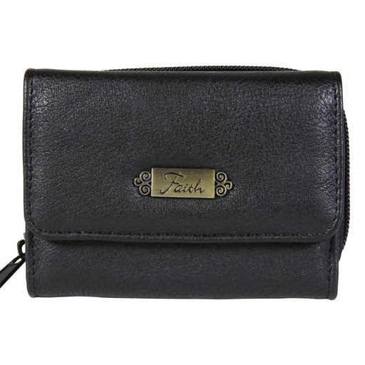 "Wallet w/""Faith"" Badge (Black)"