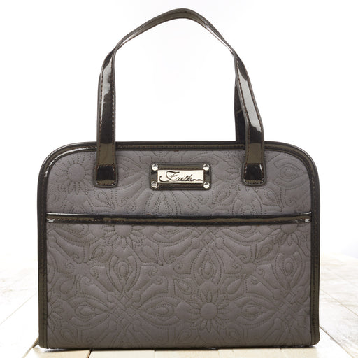 Quilted Purse-Style Gray Faith Lg