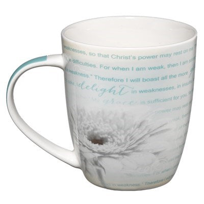 His Grace is Sufficient 2 Corinthians 12:9-11 Coffee Mug