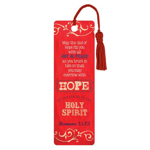"""Hope"" (Red) PVC Bookmark"