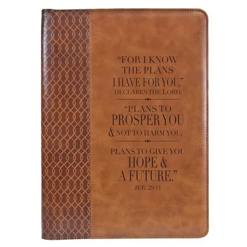 Jeremiah 29:11 Two-tone Legal Size Zippered Portfolio