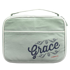 Canvas Bible Cover Grace 1 Tim 1:14 Med
