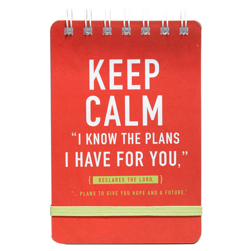 """Keep Calm: I Know The Plans"" Notepad - Jer 29:11"