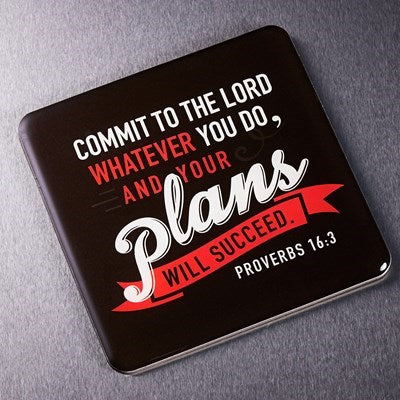 """Commit to the Lord"" Magnet"