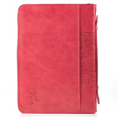 Faith Pink Faux Leather Fashion Bible Cover - Hebrews 11:1