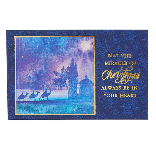 """May The Miracle of Christmas"" Pass Around  Card"