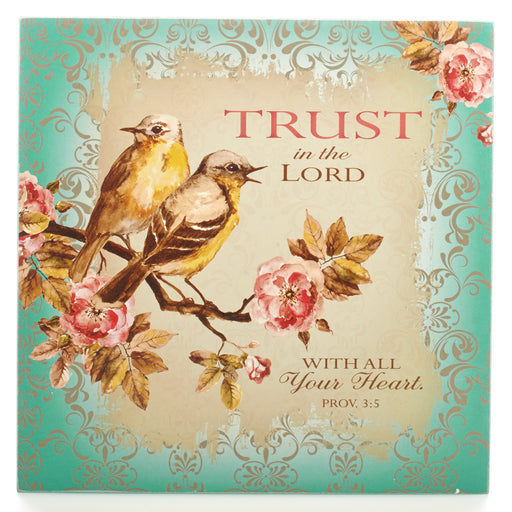 "Trust in the Lord Collection Small Wooden Wall Plaque (6 1/4"")"