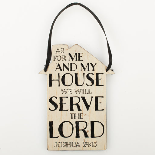 """As For Me And My House"" Door Hanger/Wall Plaque"