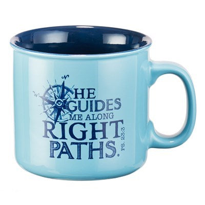 He Guides Me Psalms 23:3 Coffee Mug