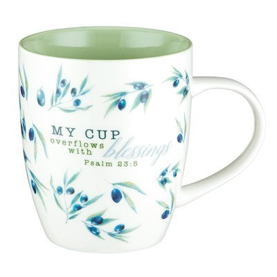 My Cup Overflows with Blessings Coffee Mug - Psalm 23:5