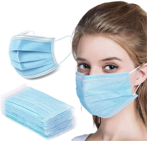 Face Mask with Ear Loops Polypropylene Disposable 100/bx Non-Medical