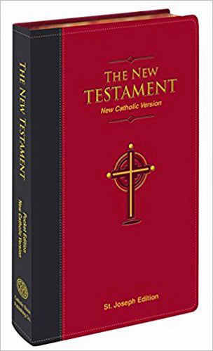 New Catholic Version St. Joseph Edition Pocket Size New Testament-Burgundy Dura-Lux Imitation Leather
