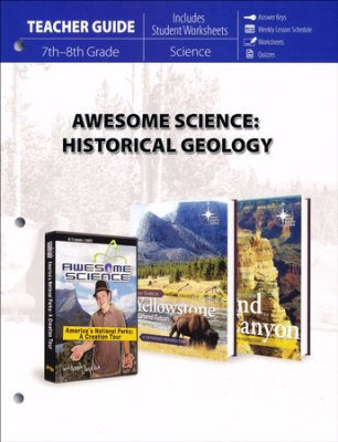 Master Books-Awesome Science: Historical Geology Teacher Guide (7th - 8th Grade)