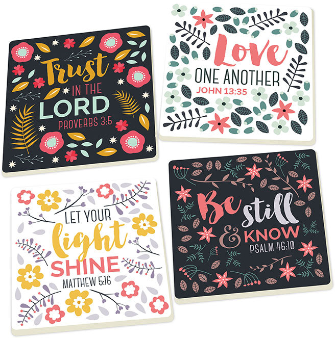 Coaster Pack (4s):Trust In The Lord (8x4)