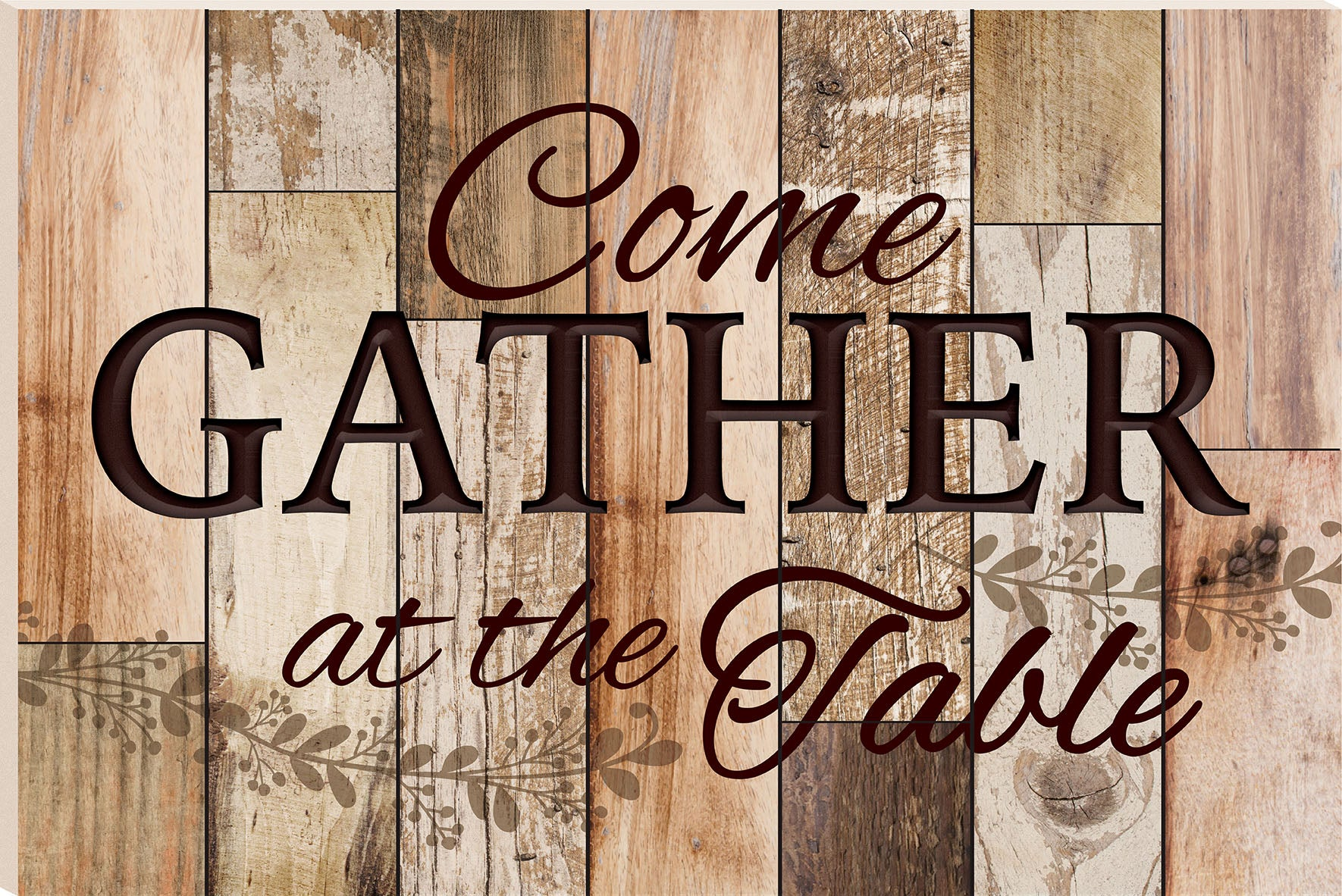 Barn Board (1s):Gather At The Table (24x16)