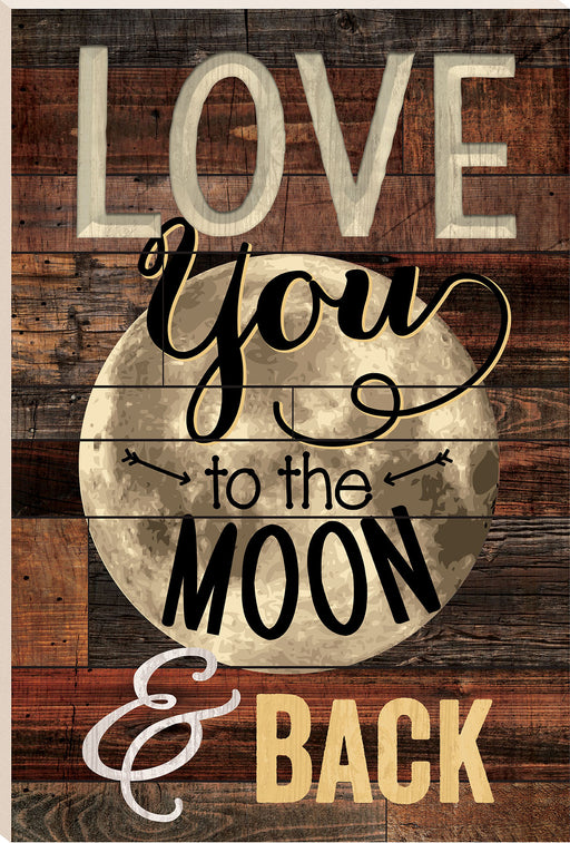 Barn Board (1s):Moon & Back (16x24)