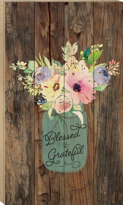 Boxed Pallet (1s):Blessed & Grateful (14x24)