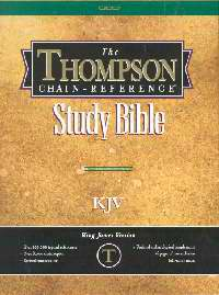 KJV Thompson Chain-Reference Bible/Handy Size-Black Bonded Leather Indexed