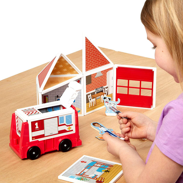 Melissa & Doug Magnetivity Magnetic Building Play Set - Fire Station