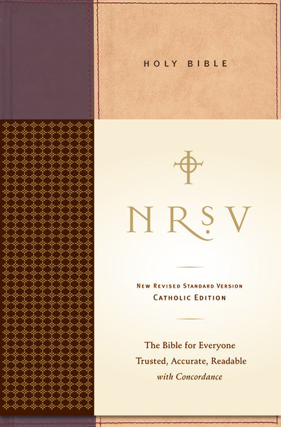 NRSV, Standard Catholic Edition Bible, Anglicized, Hardcover, Tan/Red