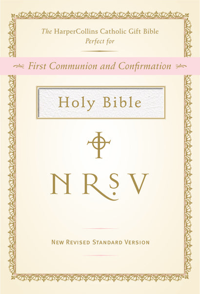 NRSV, The HarperCollins Catholic Gift Bible, Imitation Leather, White