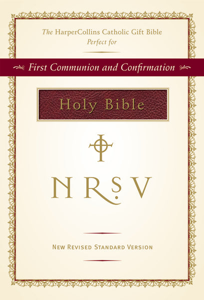 NRSV, The HarperCollins Catholic Gift Bible, Imitation Leather, Burgundy