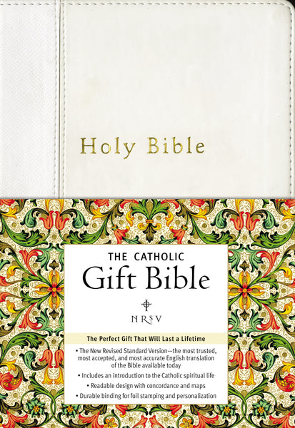 NRSV, The Catholic Gift Bible, Imitation Leather, White