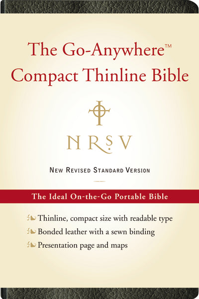 NRSV, The Go-Anywhere Compact Thinline Bible, Bonded Leather, Black