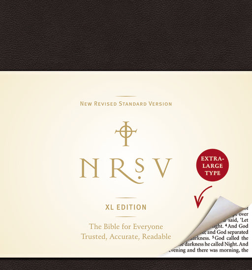 NRSV, XL Edition, Bonded Leather, Black