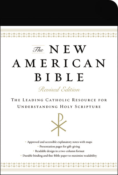 The New American Bible, Revised Edition, Imitation Leather, Black