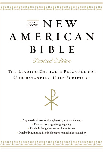 The New American Bible, Revised Edition, Hardcover, Black